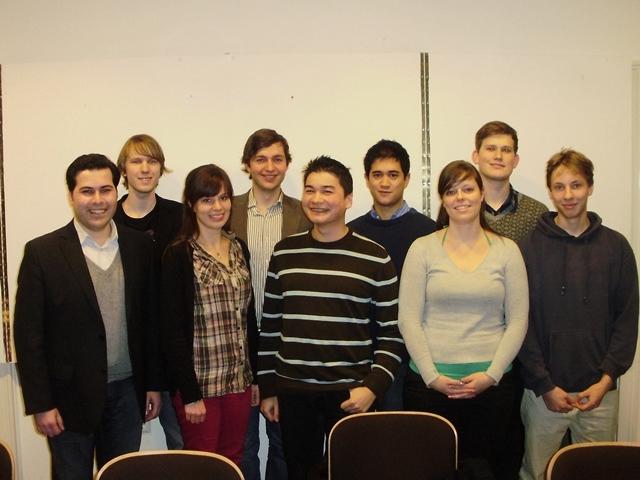 v.l.n.r.: Leo, Robert, Melanie, Alex, Matthias, Dario, Kati, Frederik, Victor