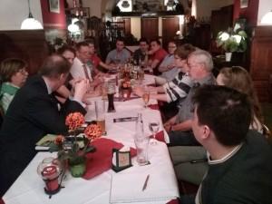 Die JuLis mit Bezirksbürgermeister Naumann